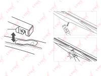 Купить Задняя щётка стеклоочистителя, 1 шт по выгодной цене в Sibcastrol - Lynxauto LR35A